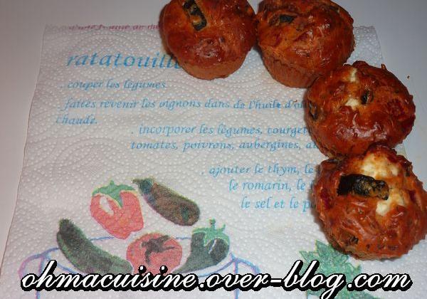 Cake ratatouille feta - Photo par ohmacuisine
