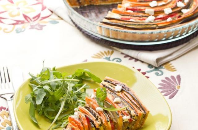 Tarte provençale en spirale 'Courgette, Aubergine, Poivron & Carotte' - Photo par Clovis