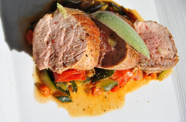 Filet mignon de porc aux légumes - Photo par cricri3005