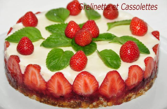 Cheese-Cake aux mara des bois, à la menthe et à la fève Tonka - Photo par isa-marie