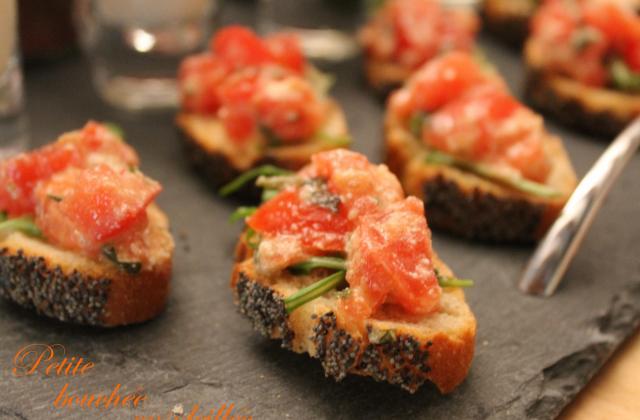 Crostinis aux tomates et pesto - Photo par ma pâtisserie