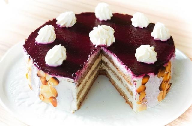 Gâteau d'anniversaire sans gluten, sans lactose et sans sucre - Photo par La  Table des Intolérants