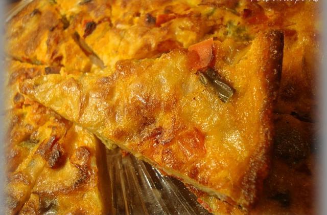 Petits triangles de tortilla poivron et chorizo - Photo par annecoK