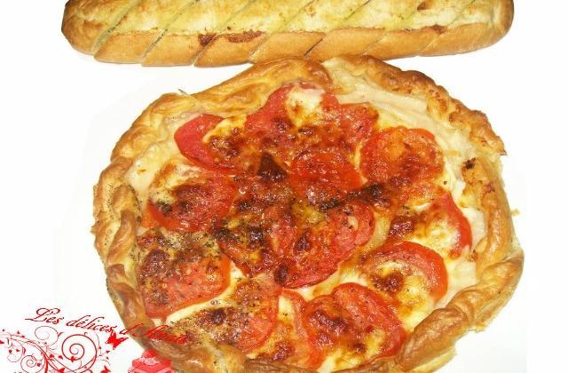 Tarte tomate et mozarella - Photo par les delices danais