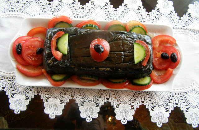 Cake aux aubergines (cuisson vapeur) - Photo par findv