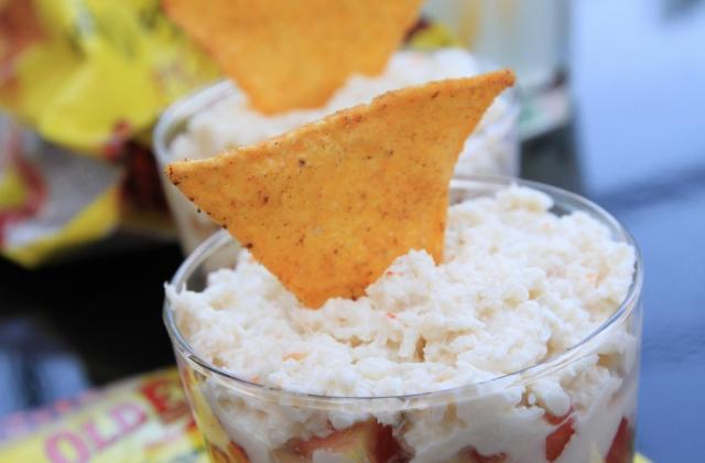 Verrines de guacamole au crabe et tortilla chips - Photo par Old El Paso