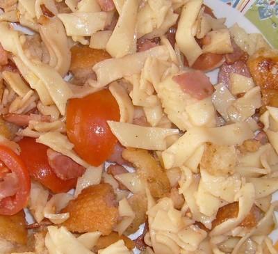 Salade de tagliatelles au jambon grillé - Photo par sandrirEv