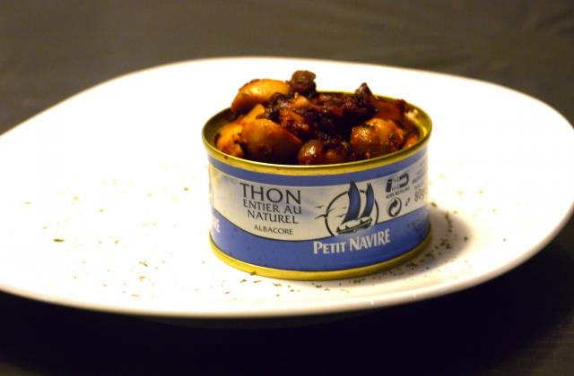 Thon et champignon à la méditerranéenne - Photo par didivi