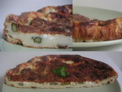 Quiche aux asperges verts frais et jambon serrano - Photo par cristiXX