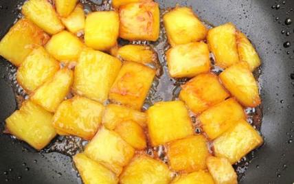Ananas au caramel - Photo par leblog
