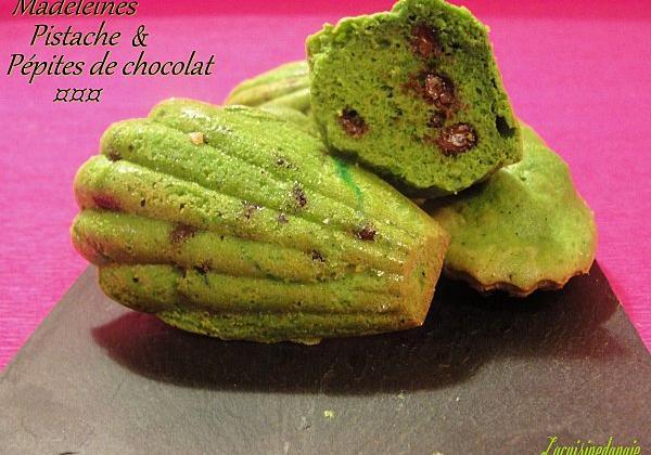 Madeleines Pistache et pépites de chocolat - Photo par Angie37