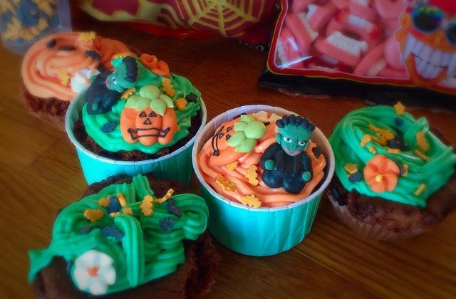 Cupcakes monstrueux pour Halloween - Photo par nicefr