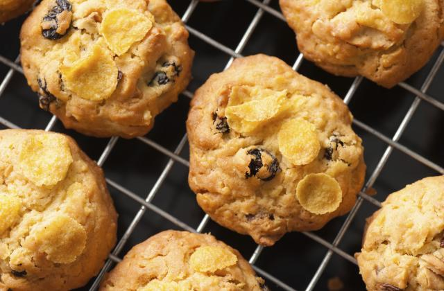 Cookies aux raisins secs et corn flakes - Photo par Chef Christophe