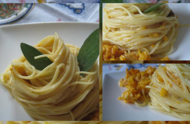 Cappelini con crema di parmigiano e zucca - Photo par manubartolini