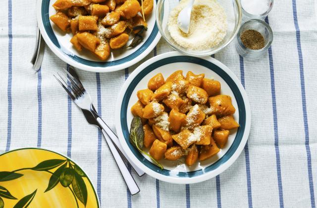 Gnocchi au potimarron, parmesan et sauge - Photo par 750g