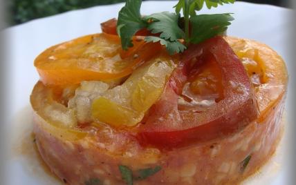 Carpaccio de tomates multicolores - Photo par annecoK