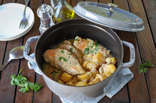 Blancs de poulet à la crème et moutarde de Dijon - Photo par Silvia Santucci