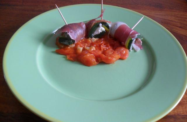 Rouleau de courgette au jambon de parme et tartare - Photo par orelyp
