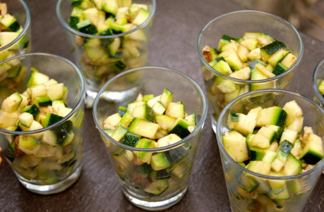 Verrines croquantes de courgettes aux noix - Photo par La ptite cuisine de Pauline