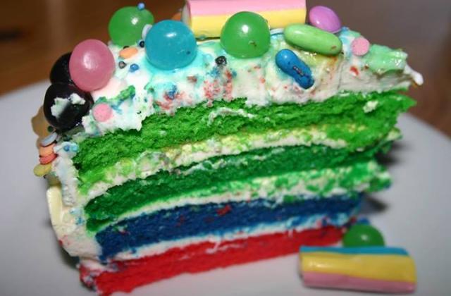 Layer cake technicolor bonbons - Photo par celine792