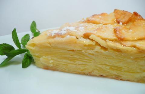 Gâteau fondant aux pommes - Photo par Nadji.