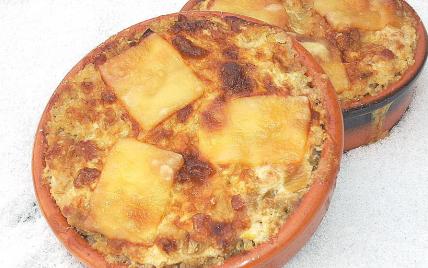 Petits gratins quinoa et poireaux aux lardons - Photo par La soupe à la citrouille