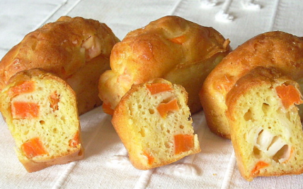 Cake aux carottes et au surimi - Photo par La soupe à la citrouille