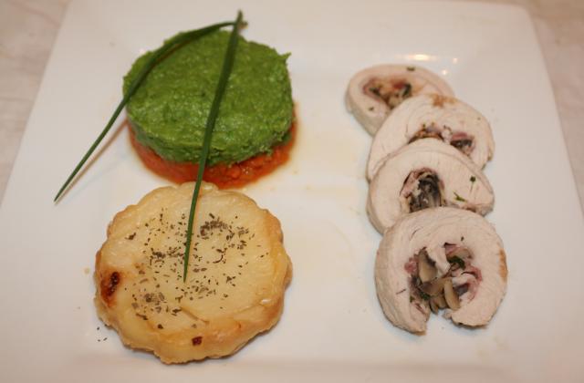 Roulé de dinde farcis aux champignons de Paris - Photo par jfheun