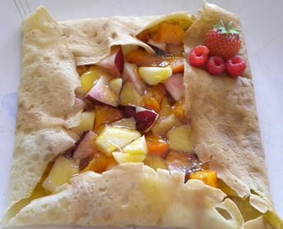 Crêpe aux fruits frais et au caramel de cidre - Photo par miminiN