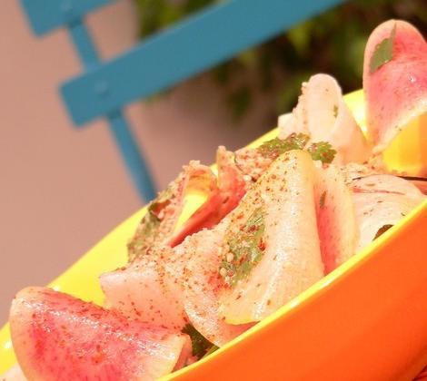Salade croquante de radis au gomasio - Photo par Chef Damien