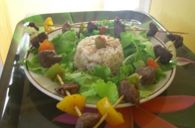 Brochette de boeuf et aux légumes - Photo par channeG