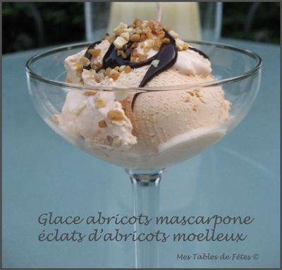 Glace crémeuse abricots mascarpone aux éclats d'abricots moelleux - Photo par edithsobstyl