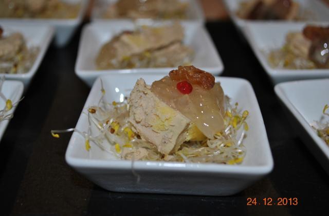 Foie gras aux raisins secs - Photo par sucette violette