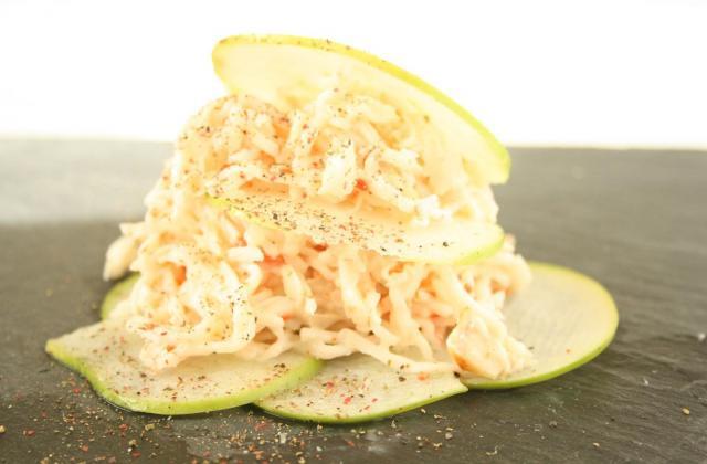 Salade de crabe sur lit de pommes vertes - Photo par Coraya