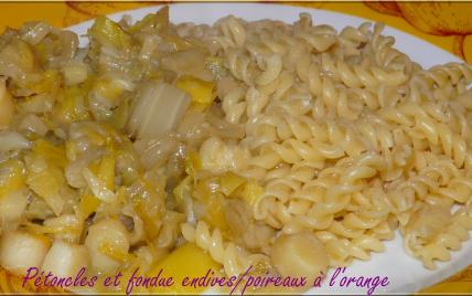 Pétoncles et fondue endives/poireaux à l'orange - Photo par erika.miguel9