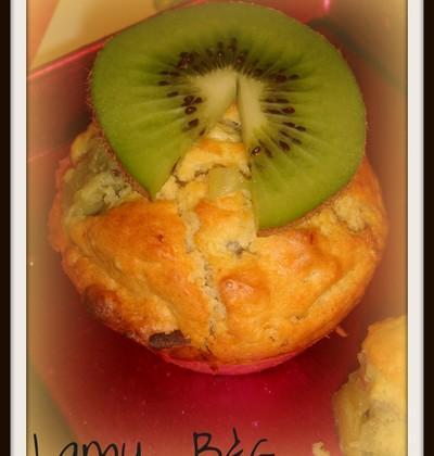 Muffins Kiwi chocolat blanc de lamu - Photo par anthel