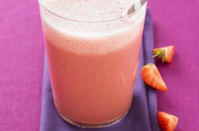 Ice-cream shake à la fraise - Photo par Mon dessert de fraises Andros