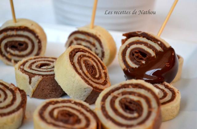 Roulés de crêpes et fondue au chocolat - Photo par Invité