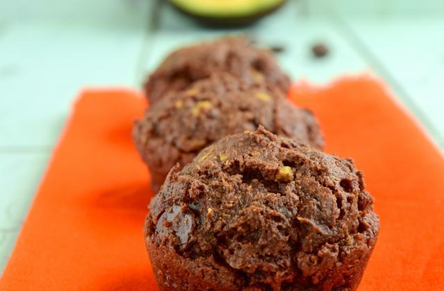 Muffins au chocolat et à l'avocat - Photo par 750g