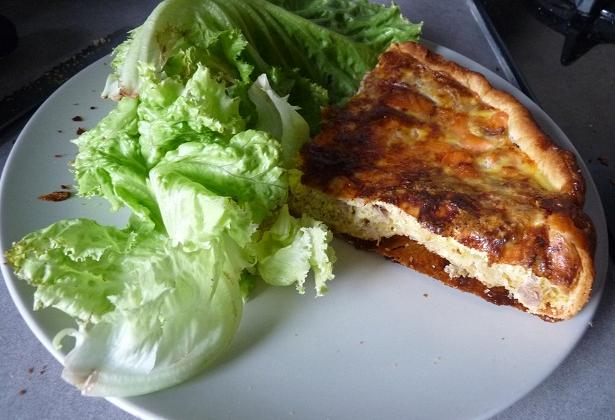Quiche au thon et saumon fumé - Photo par crubin