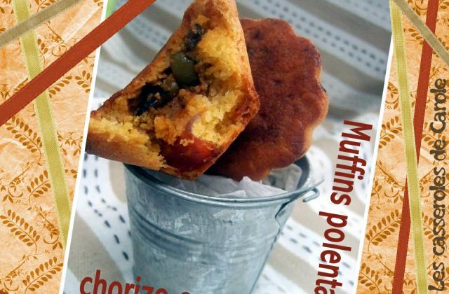 Muffins polenta chorizo cœur tomaté - Photo par CasserolesdeCarole