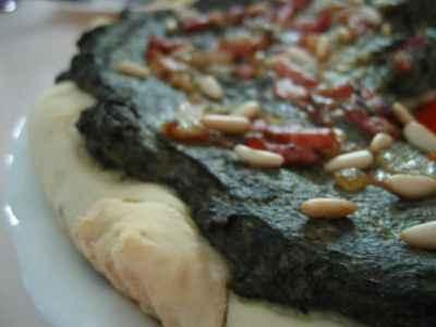 Pizza épinards pignons - Photo par christgOm