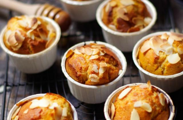 Muffins miel et amandes - Photo par PourDeBon