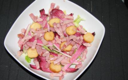 Salade d'endives rouges - Photo par ague62