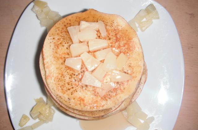 Pancakes à l'ananas - Photo par blackyC