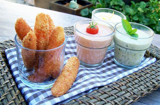 Coraya Suprêmes panés au Panko et sa farandole de sauces - Photo par Coraya