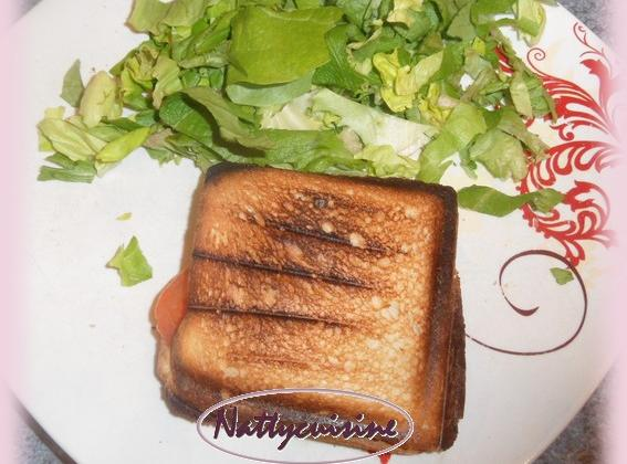 Croque monsieur mozzarella - Photo par Nattycuisine