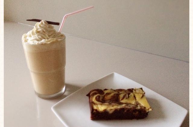 Goûter sucré au fromage : Brownie & Milk-Shake - Photo par cest_le_M