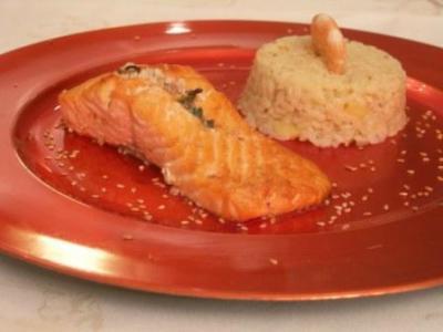 Mi-croustillant de saumon aux saveurs de soleil - Photo par dollyd