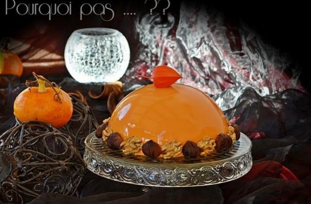 Bombe d'automne - châtaignes/potimarron/pommes/noix - Photo par isabec